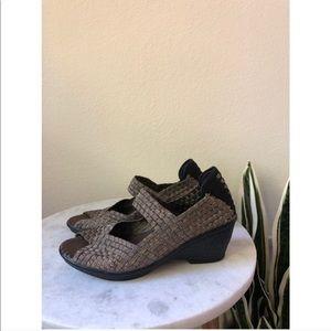 0b3bc17c999 Ash Shoes   Whitney Black Leather Studded Wedge Espadrille   Poshmark